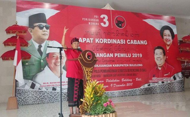 Koster Minta Kader Banteng Tak Saling Sikut dalam Pemilu 2019