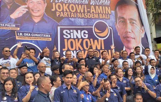 Nasdem Bali Luncurkan Komando Jokowi – Amin, Target 80 Persen