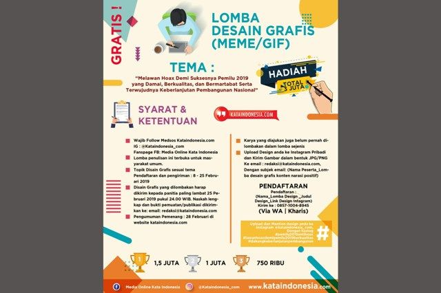 Media Kata Indonesia Gelar Kompetisi Netizen, Total Hadiah Rp 10 Juta!