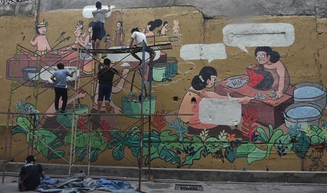 STD Denpasar Garap Mural Pasar Badung