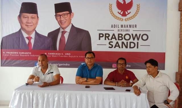 Di Lapangan Kompyang Sujana,  Prabowo Sampaikan Pidato Kebangsaan