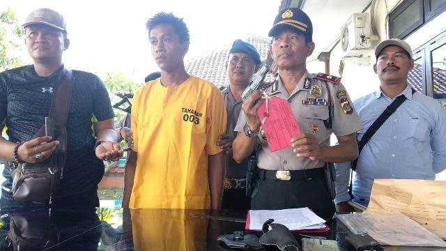 Bawa Senpi, Hariyanto Diamankan di Pelabuhan Gilimanuk