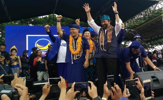 Surya Paloh Ajak Masyarakat Karangasem Jaga Ideologi Pancasila