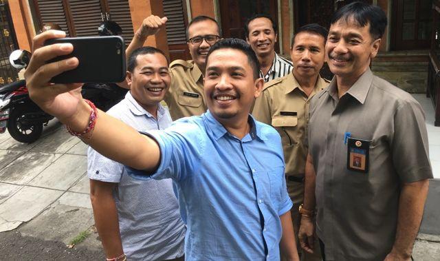 Kabiro Humas dan Pimpinan Bali Express Bahas Danu Kertih