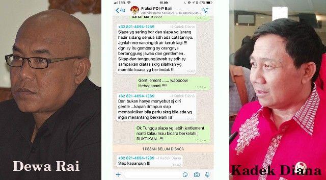 Begini Percakapan di Grup WA yang Berujung Main Bogem di DPRD Bali