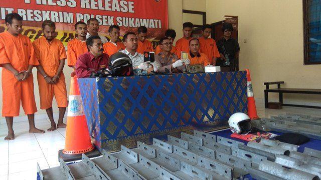 Pemulung Curi Besi Pembatas Jalan Bypass Mantra Senilai Rp 300 Juta