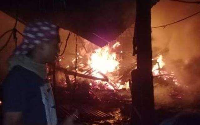 Gudang Pembuatan Pisau di Jalan Kenyeri Denpasar Ludes Terbakar