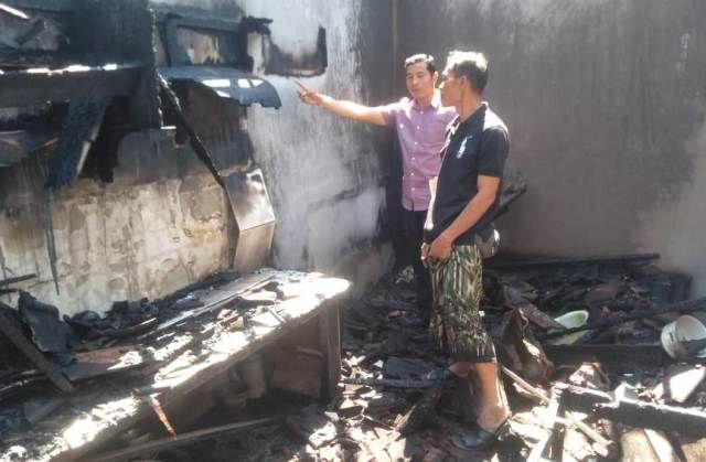 Diduga Akibat Dupa, Dapur Pensiunan TNI Terbakar