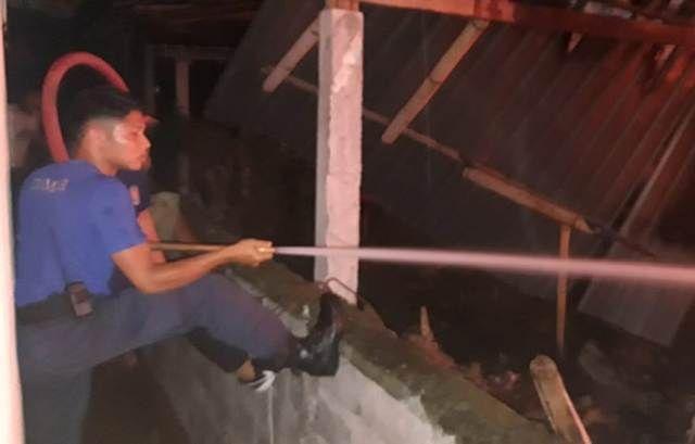 Gudang Kayu di Mas Terbakar, Kerugian Rp 100 Juta