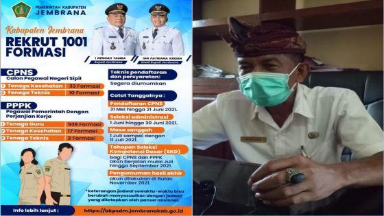 Pemkab Jembrana Buka 1.001 Formasi untuk CPNS dan PPPK