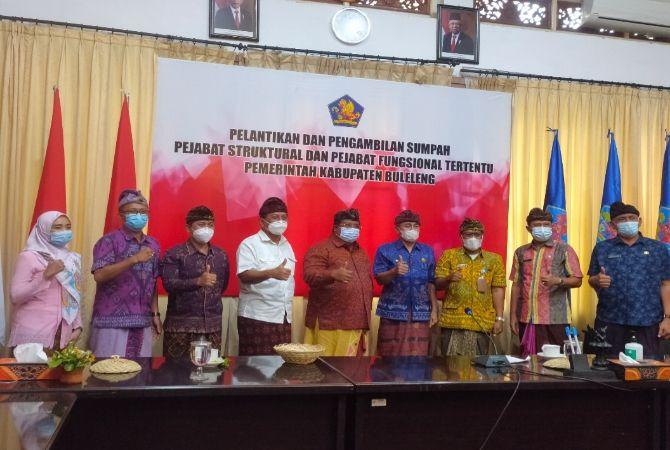 Mutasi di Pemkab Buleleng, Kabag, Camat dan Wadir Jadi Kadis