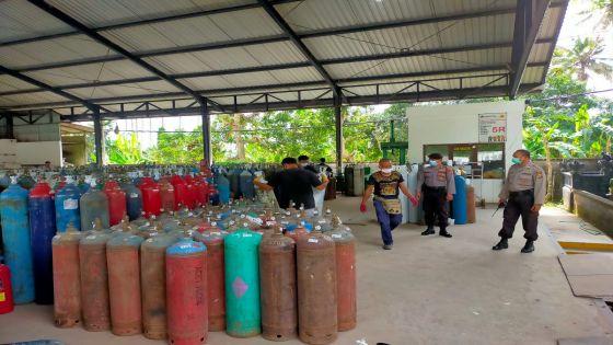 Antisipasi Penyimpangan, Polres Badung Jaga Ketat Distribusi Oksigen