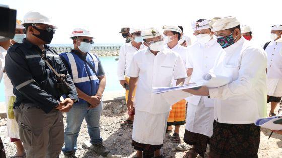 Desain Berubah, Gubernur Koster Sidak Pembangunan Pelabuhan Sampalan
