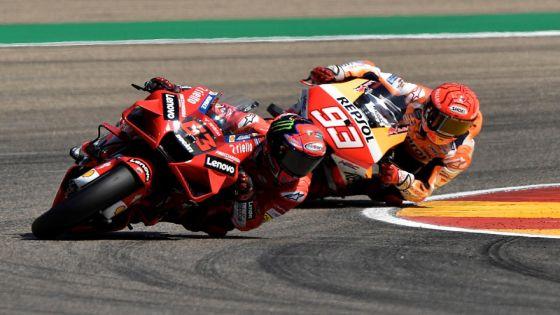 Atasi Marquez, Bagnaia Raih Kemenangan Perdana MotoGP di Aragon