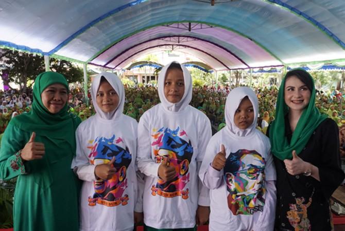 Kunjungan Khofifah Indah Parawansa di Pondok Pesantren Nurul Amanah Bangkalan