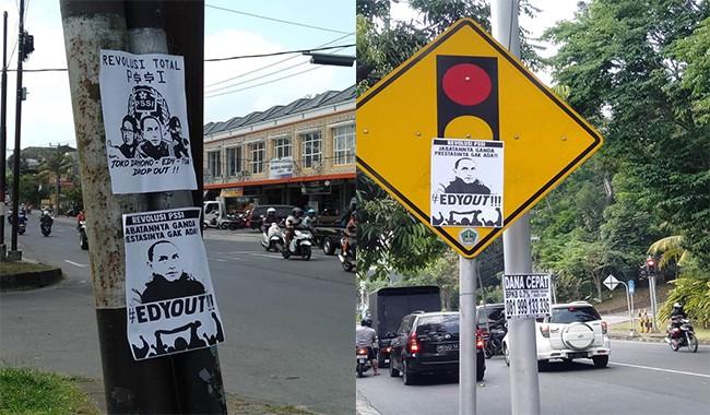 Pamplet #Edyout Bertebaran di Sudut Kota