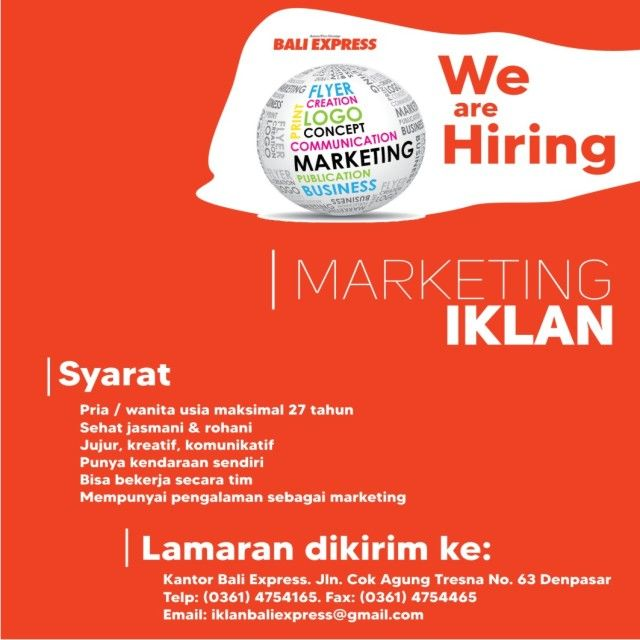 Lowongan Marketing