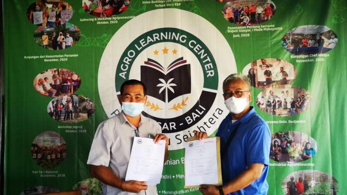 Bali Express melakukan penandatangan kerjasama dengan Agro Learning Centre