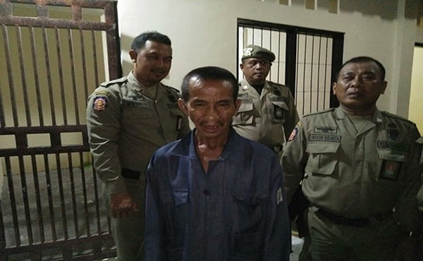 orang linglung, satpol pp denpasar, dinsos denpasar