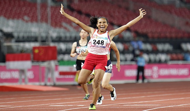 atlet atletik, ariyanti putri, medali perak, asian para games