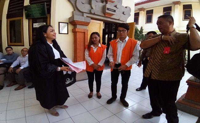 sejoli kumpul kebo, kurir narkoba, tuntutan narkoba, Kejati Bali, PN Denpasar,