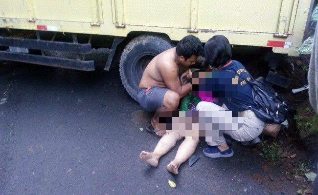 lakalantas, pemotor tewas, truk gilas pemotor, Polsek Ubud,