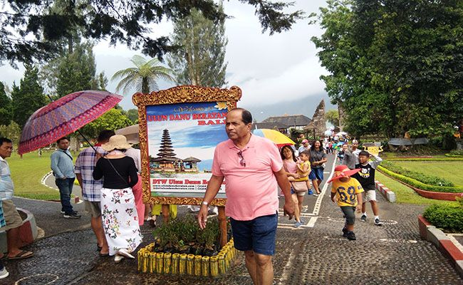 dtw danau beratan, wisatawan domestik, turis asing, libur panjang