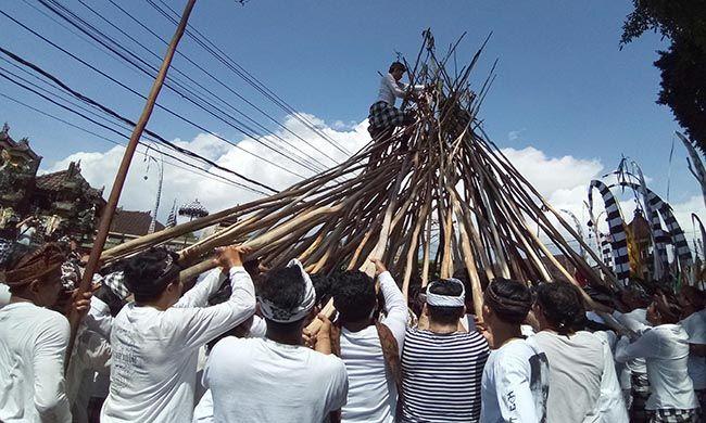 tradisi mekotek, hari raya kuningan, kerajaan mengwi, perekat masyarakat, desa munggu