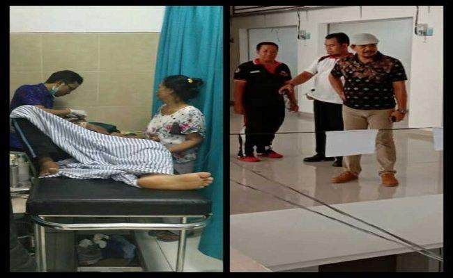 jukir jatuh, jatuh dari lantai, Pasar Semarapura, RSUD Klungkung, UPT Pasar Semarapura, warga geger,
