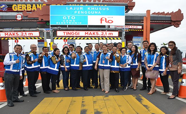 tol bali mandara, sistem pembayaran, single lane free, bank indonesia, bank mandiri, blue bird