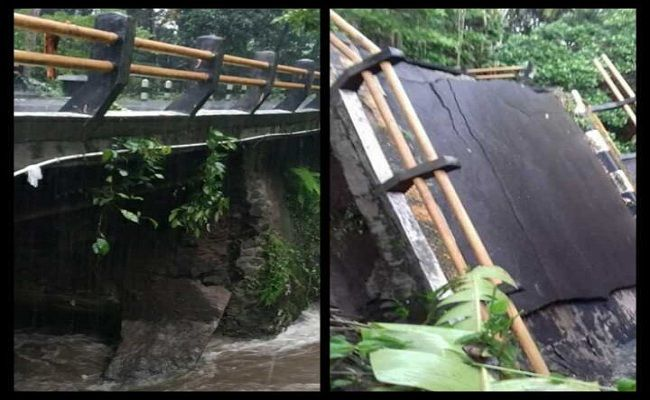 Jembatan Putus, Tukad Pati Pedih, PUPR Karangasem, Digerus Banjir, Jembatan ambrol, jalan terputus, Pemkab Karangasem,
