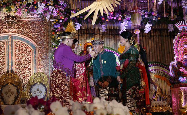 acara pernikahan, cok krisna, anak presiden, artis nasional