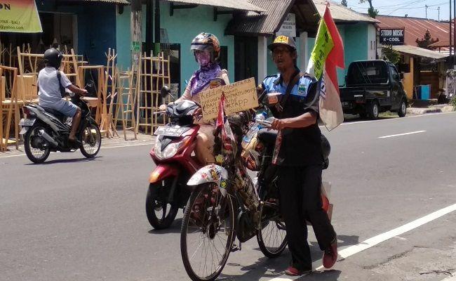 mbah untung, keliling indonesia, ngontel, NKRI Harga mati,