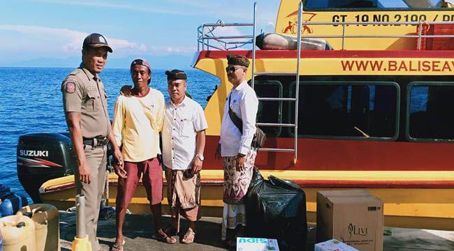 buang limbah, buang olie, pengelola boat, satpol pp klungkung, camat nusa penida