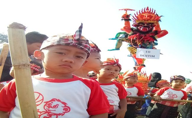 pawai ogoh-ogoh, IGTKI PGRI Denpasar, Pemkot Denpasar, Siswa PAUD, hari raya nyepi,