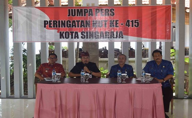 HUT Kota Singaraja, HUT ke 415, Pemkab Buleleng, Tari Rejang Renteng, 169 Desa Pekraman,