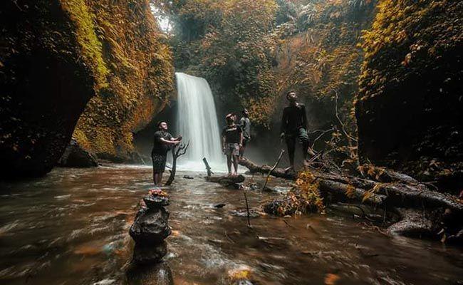 gana waterfall, surga dunia, pesona alam, tampaksiring gianyar