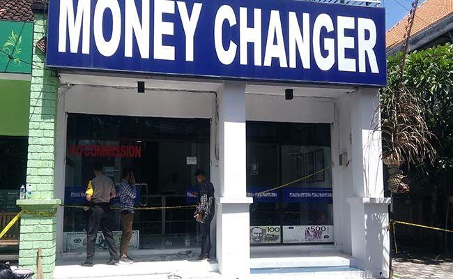 money changer, kasus perampokan, perampokan money changer, perampokan pagi buta, polda bali