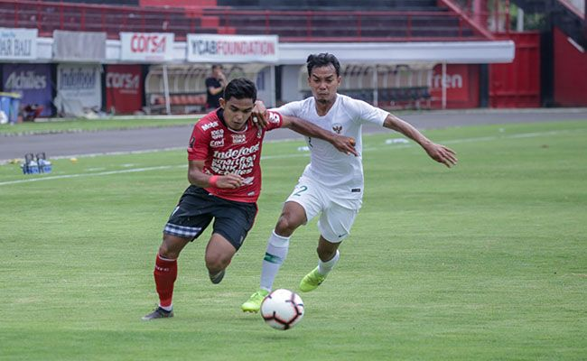 bali united, timnas indonesia, laga ujicoba, coach teco
