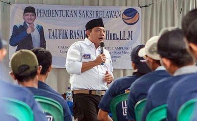 pemilu 2019, partai nasdem, taufik basari, parpol papan atas