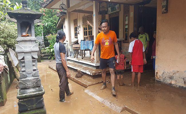 hujan lebat, banjir bandang, titik bencana, bpbd buleleng