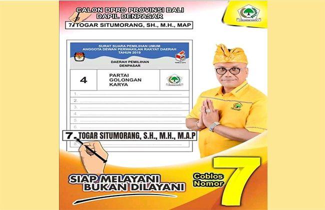 pemilu 2019, togar situmorang, presiden jokowi, pasar badung
