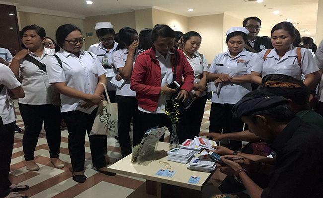 pemilu 2019, surat suara habis, pasien rsd mangusada, petugas rsd mangusada, kpu badung