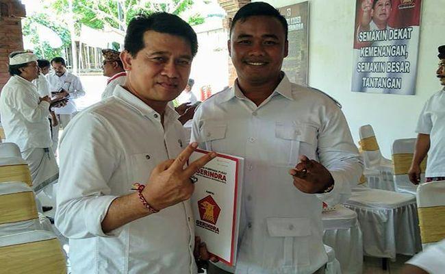 pemilu 2019, bupati Suwirta, bupati klungkung, Partai Gerindra, mundur dari partai, gerindra retak, suwirta mundur,