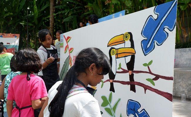 Secret Garden Village, Sunday Market 0.4, Mural Kids Competition, kemerdekaan RI, anak sd, panggung catwalk,