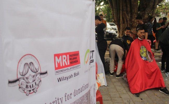 aksi cepat tanggap, masyarakat relawan indonesia, barber bali community, potong rambut massal, cfd renon