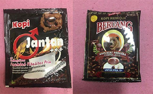 merek kopi, obat kuat ilegal, beredar ilegal, bbpom denpasar, telusuri asal produk