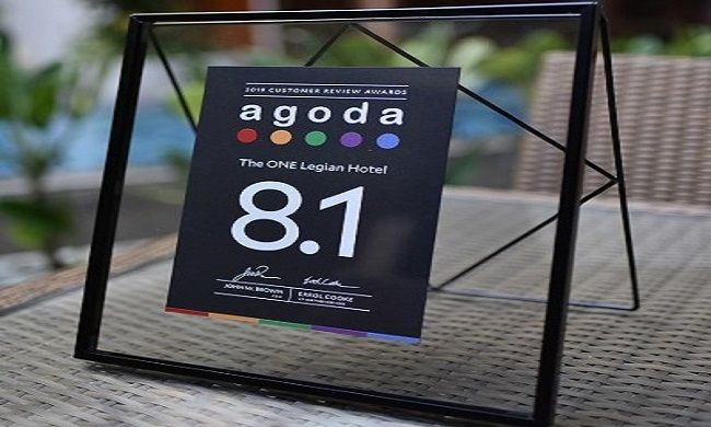the one legian, guest review award, agoda award, pelayanan terbaik