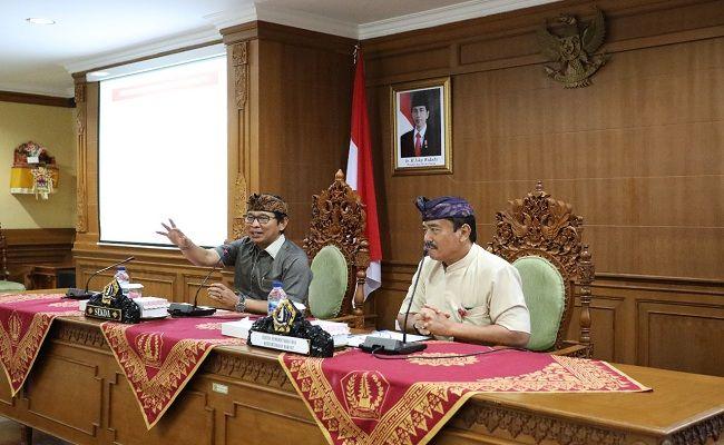 Pemkab Badung, Sekda Adi Arnawa, rapat evaluasi, LPPD 2019, DID,