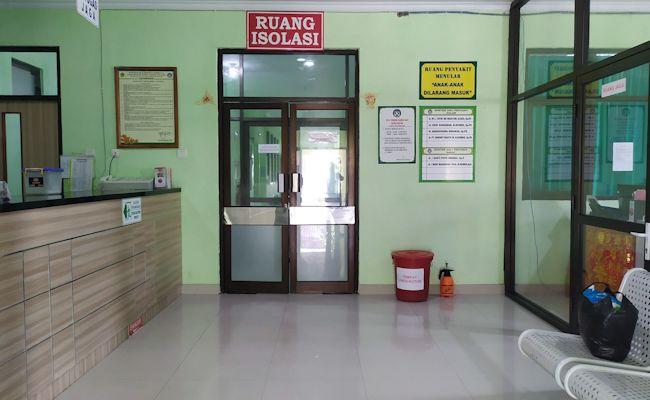 Ruang isolasi tambahan di lantai II RSU Negara saat terjadi penambahan kasus beberapa waktu lalu.